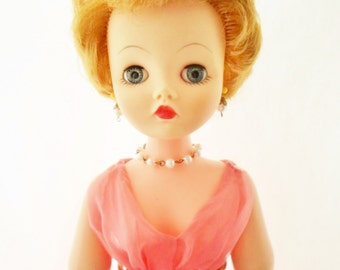 """1958-1965 Deluxe Reading Candy Fashion Doll, 21"""" Tall, With Wardrobe Included, Original Clothes, All Vinyl, Blonde Hair, Blue Sleep Eyes"""