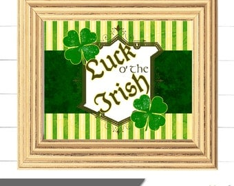 St. Patrick's Day Sign - Wall Art - Candy Buffet Sign - Luck O' The Irish Collection - 8x10 - Instant Download
