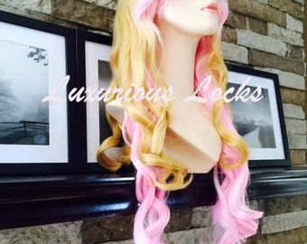 Tulip // Blonde and Pink Full Synthetic Wig
