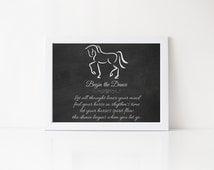 Dressage Art Print, Begin the Dance Design & Poem, Equine Artist Sandra Beaulieu, Horse Printables, Horse Poems, Equine Decor, Horse Quotes