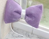 Daisy // Daisy Duck Bow // Big  Lavender Bow // Big Bow Headband / by Born TuTu Rock