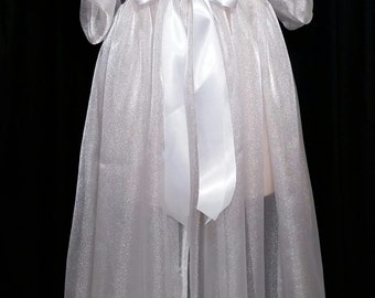 Organza Peignoir Sheer Robe Dressing Gown CUSTOM Made to Order