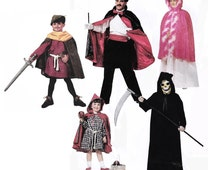 EASY Masquerade Costume: Riding Hood, Robin Hood, Maid Marian, Princess, Wizard, Magician, Witch or Grim Reaper, McCall's 6680, Adult Sm-XL
