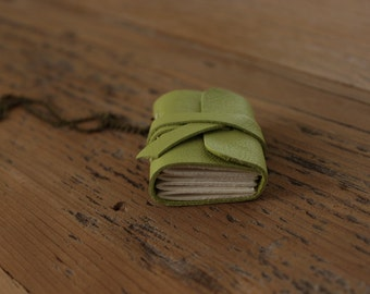 Wearable Necklace - Green Mini-Book with Chain