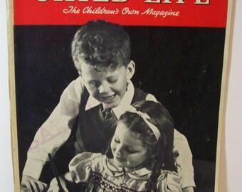 vintage, rare Child Life magazine January 1938