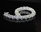 Silver Chainmaille Bracelet, Vipera Berus