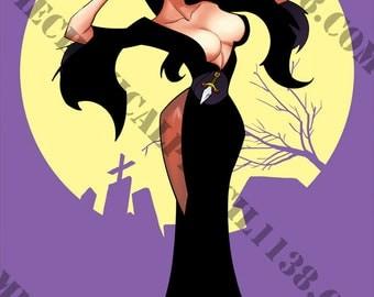 Print 34- Elvira, Mistress of the Dark