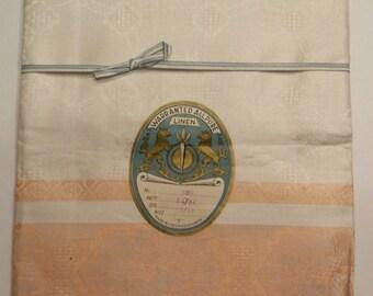 Luncheon Tablecloth &  6 Napkin Set, Linen, Czechoslovakia, 1937, New/Vintage Condition