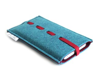iPhone 6S Sleeve/ iPhone 6s Plus Case/ iPhone 4/4S/5/5S/5C Sleeve/ Samsung/ Nexus/ HTC/ One+One- Wave- Teal Blue & Deep RED
