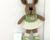 Easter Toy - Knit Stuffed Bunny Rabbit - Plush Toy - Spring Children Toy - Stuff Animal - Easter Kids Toy Bunny- Stuffed Bunny -  Alexis