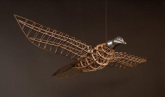 Passenger Pigeon Sculpture - wood cast aluminum - model airplane style