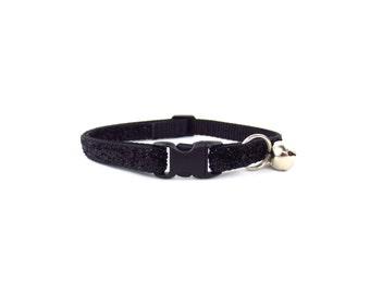 Black Glitter Cat Collar