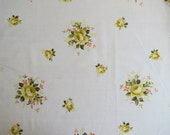 Vintage Sheet Fat Quarter - Yellow and Orange Rose