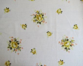 Vintage Sheet Fat Quarter - Yellow and Orange Rose
