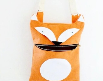 Happy Fox Messanger Bag / Cross Body Bag / Felt Messanger Bag / Fox Bag / Felt Bag