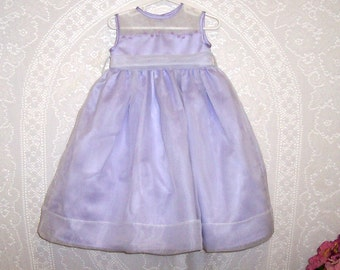 Size 2Y - Flower Girl Dress - by Strasburg - Lavender - Organza - Embroidery - Pearls - Gorgeous
