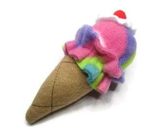 Cat Toy - Catnip Ice Cream Cone Cat Toy