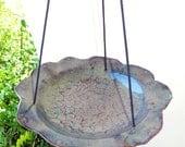 Hanging Ceramic Bird Feeder