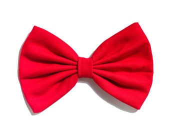 Solid Red Colored Hair Bow