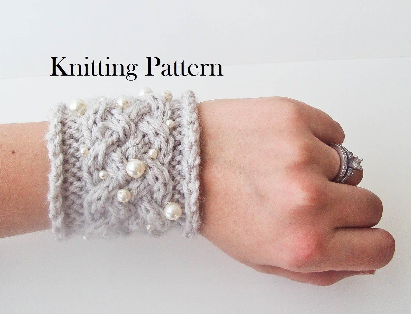 Knit Braid Pattern : Knitting Pattern Knit Fancy Braid Cuff by AniaPerroneDesign