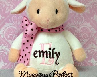 Personalized Lamb Stuffed Animal, Plush Soft Toy
