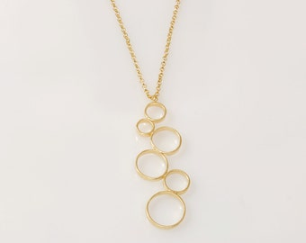 Gold Circles Nnecklace Circles Pendant gold pendant necklace Circles pendant Gold Nnecklace