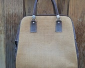 Great vintage woven travel bag
