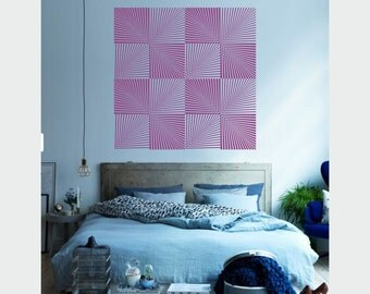 Optical Illusions - Space Time Distortions vinyl wall sticker decal XLarge geometric art minimal decor (ID: 151021)