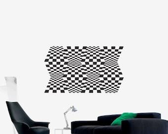 Optical Illusion - Space Warps vinyl decal science geometric art removable decor (ID: 151020