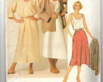 Vogue American Designer Calvin Klein Sew Pattern 1377 1985 Uncut Lagenlook Skirt Jacket 8
