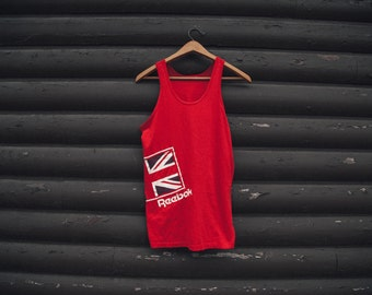 Vintage 80's Red Reebok Tank Top Extra Small RARE