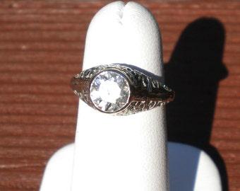 18k white gold 1.15ct diamond filagree ring R231