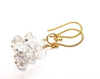 Herkimer Diamond Earrings Herkimer Quartz Earrings Sparkly Earrings Simple Jewelry Herkimer Jewelry Gift For Women Quartz Jewelry FizzCandy