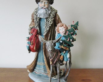 "Bavarian Santa Claus 12"" Figurine, 1985, Signed Mary E. Duncan and # 3663, Ltd Edition Duncan Royale"