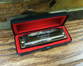 Hohner Harmonica - Personalized - Groomsmen -Kids Gifts- Ringbearer -Gifts for Men - Groomsmen - Christmas (414)