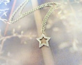 Star necklace, star jewelry arabian style necklace silver statement necklace best friend birthday shining star necklace christmas gift women
