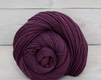 Supernova - Hand Dyed Superwash Merino Wool Worsted Yarn - Colorway: Eggplant