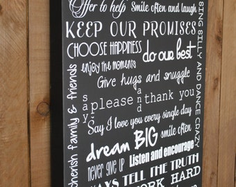 In Our Home We- Personalized Family Rules Sign- Home Decor gift for Family, House Rules Sign