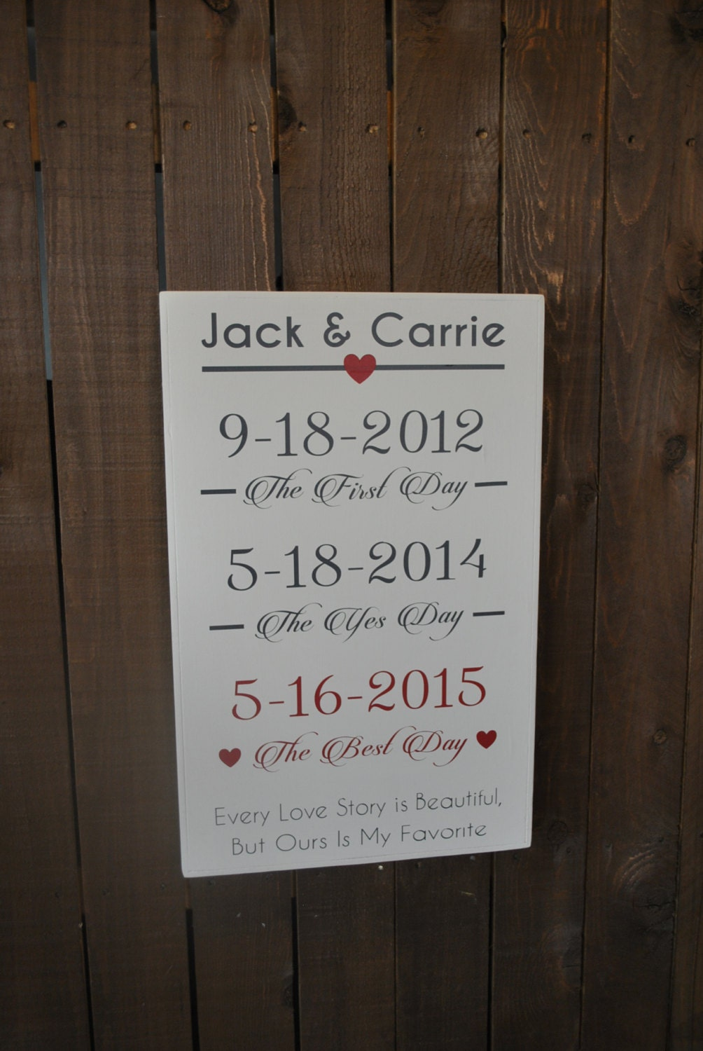 Personalized Wedding Gift for Couple Rustic by SignsToLiveBy