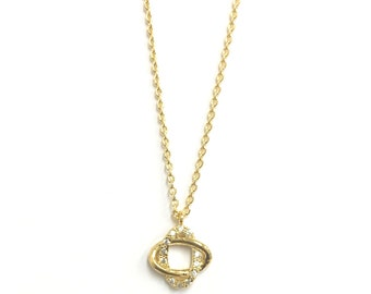 """Tiny Gold """"Eternity"""" Charm with Cubic Zirconia Gold Plated - Infinity, Dainty, Simple, Birthday Gift, Wedding Bridesmaid Gift"""