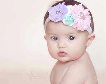 Baby headband, Easter headbands, girl headband, newborn headband, Easter headband, baby hair bow, easter bow, newborn photo prop,