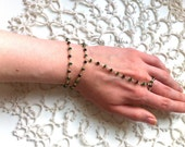 slave bracelet, hand chain, Gold Slave Bracelet,Gold Hand Bracelet,Gold Finger Bracelet, Ring Chain Bracelet, slave, minimalism