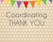 Coordinating THANK YOU CARD//Printable//Notecard//Postcard