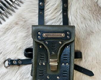 Commando leather military hip bag
