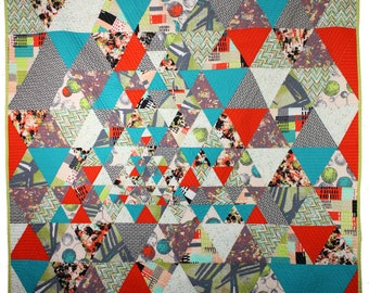Fragmented - Modern Throw Quilt