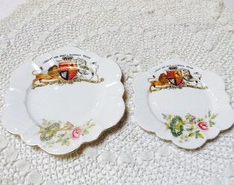 Antique Wileman Foley Plates, Queen Victorias Diamond Jubilee 1897, Set of Two, Royal Memorabilia, 1800s