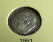 Choice of Vintage Roosevelt Dimes, Antique Dime from 1961, 1962, or 1964 Roosevelt Coin, Uncirculated United States Coin