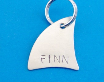 Shark Fin Pet ID Tag - Custom Dog or Cat Pet ID Tag- Handmade