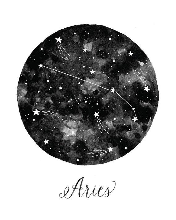 Aries Constellation Illustration Vertical