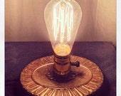 Steampunk Lamp - Desk Lamp Made From Salvaged Components